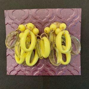 Vintage yellow drop earrings